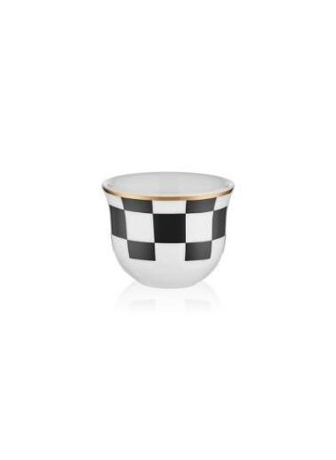 Koleksiyon Dama 6 Lı Gawa Kahve Seti Siyah Beyaz Siyah